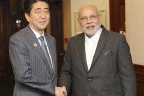 The Prime Minister, Narendra Modi meeting the Prime Minister of Japan, Shinzo Abe, in Brisbane, Australia on November 14, 2014.