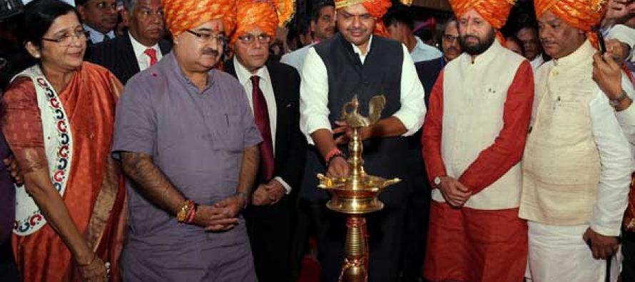 Maharashtra Chief Minister Devendra Fadnavis, inaurating maharashtra Pavilion at IITF-2014