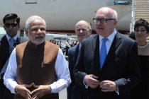 Modi arrives in 'bright and sunny' Brisbane
