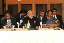 The Prime Minister, Narendra Modi meeting with the other BRICS leaders ahead of G-20 Summit, in Brisbane, Australia.