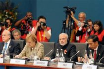 The Prime Minister, Narendra Modi at the First Plenary Session of the G20 summit, in Brisbane, Australia on November 15, 2014.