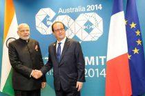 Modi meets Hollande, calls for common fight against terror