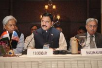 The MoS for Science and Technology and Earth Science, Y.S. Chowdary addressing at the Indian-US Joint Commission meeting