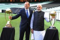 The Prime Minister, Narendra Modi and the Prime Minister of Australia, Tony Abbott, at MCG, Australia on November 18, 2014.