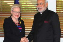 The Prime Minister, Narendra Modi meeting the Speaker of Australian House of Representatives, Bronwyn Bishop