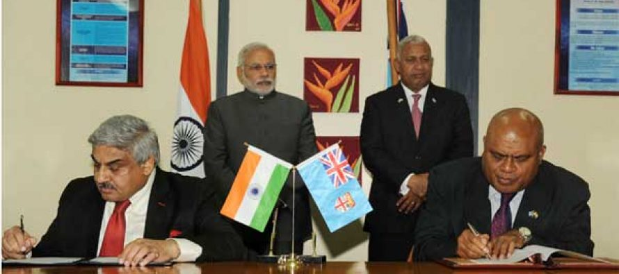 India, Fiji sign three MoUs, 15 more on anvil