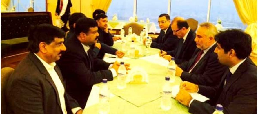 The MoS (IC) for Petroleum and Natural Gas, Dharmendra Pradhan meeting the Minister of Mines and Mineral Resources of Afghanistan, Barikzai