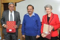 The DG UNESCO, Irina Bokova and the Secretary, Ministry of Earth Sciences, Dr. Shailesh Nayak signed the Letter of Intel between ESSO-MoES and UNESCO