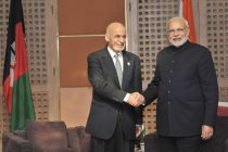 The Prime Minister, Narendra Modi meeting the President of Afghanistan, Dr. Ashraf Ghani, at the 18th SAARC Summit,