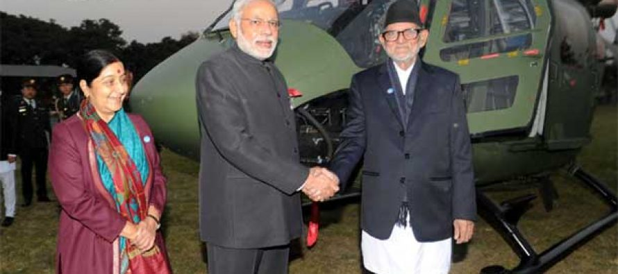 Modi hands over Dhruv chopper to Nepal