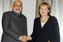 Prime Minister Narendra Modi meeting the German Chancellor, Angela Merkel, in Brisbane