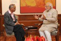 The Founder, Infosys, N.R. Narayana Murthy calling on the Prime Minister, Narendra Modi, in New Delhi