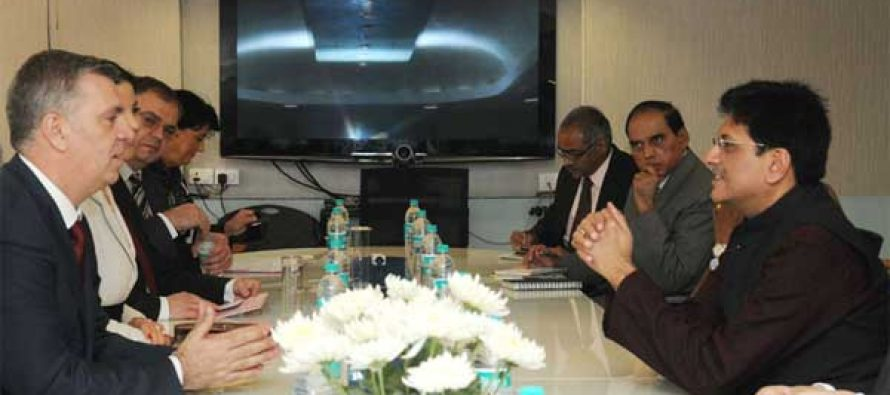 The Romanian parliament delegation meeting the MoS (IC) for Power, Coal and New and Renewable Energy, Piyush Goyal,