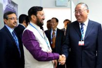The MoS for Environment, Forest and Climate Change (IC), Prakash Javadekar meeting the Vice Chairman, NDRC, China, Xie Zhenhua