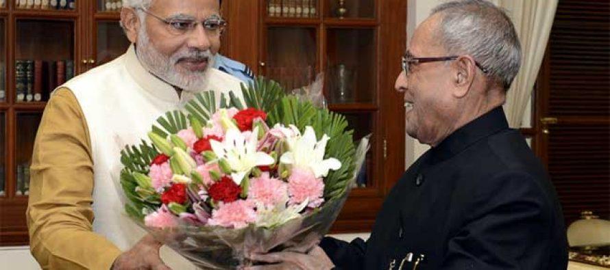 Modi meets ex-President Pranab Mukherjee