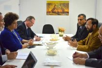 The MoS for Environment, Forest and Climate Change (IC), Prakash Javadekar meeting the Brazilian delegation