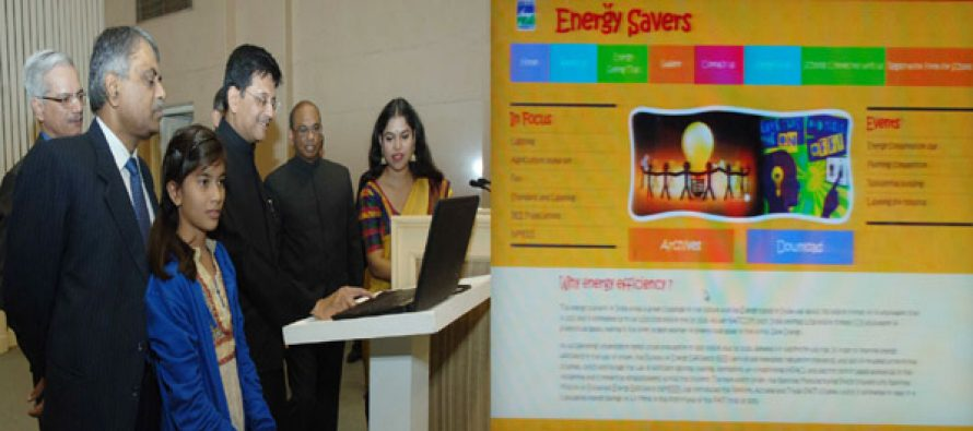 "The MoS (IC) for Power, Coal and New and Renewable Energy, Piyush Goyal launching the ""Energy Savers"" Web Portal,"