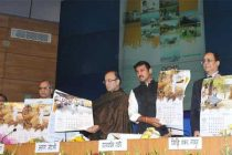 The Minister for Finance, Corporate Affairs and Information & Broadcasting, Arun Jaitley releasing the GoI Calendar 2015