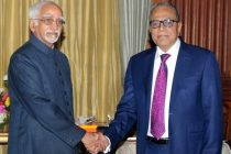 The Vice President, Mohd. Hamid Ansari meeting the President of the People's Republic of Bangladesh, Abdul Hamid