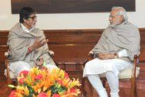 Eminent film actor, Amitabh Bachchan calling on the Prime Minister, Narendra Modi, in New Delhi on December 20, 2014.