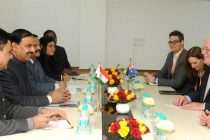 The Australian MP, Andrew Robb calling on the MoS for Culture (IC), Tourism (IC) and Civil Aviation, Dr. Mahesh Sharma