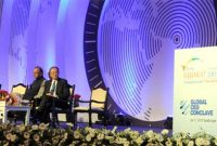 The Prime Minister, Narendra Modi addressing at the global CEO conclave, in Gandhinagar, Gujarat on January 11, 2015.