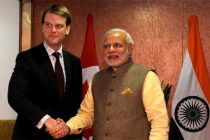 The Prime Minister, Narendra Modi meeting the Minister for citizenship & Immigration of Canada, Chris Alexander,