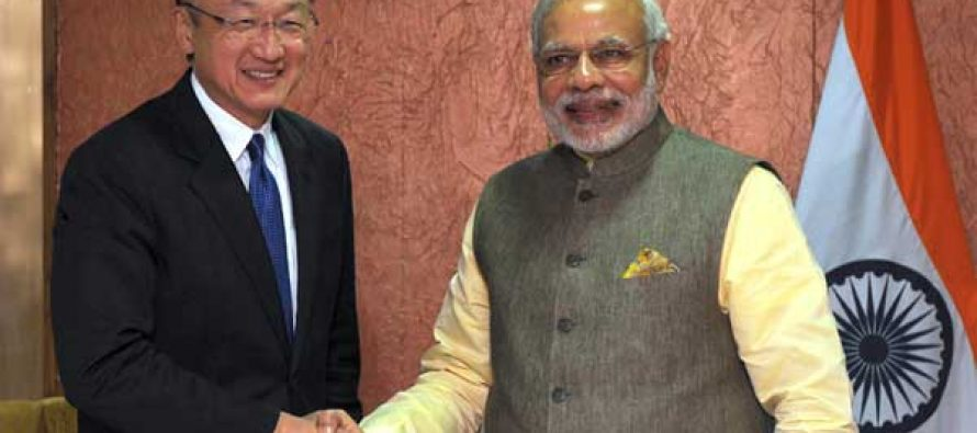 The Prime Minister, Narendra Modi meeting the President of World Bank, Jim Yong Kim, in Gandhinagar, Gujarat on January 11, 2015.