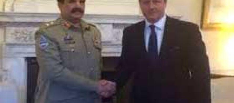 Pakistan army chief, British PM discuss regional security