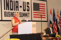 The Prime Minister, Narendra Modi addressing at the India-US Business Summit, in New Delhi on January 26, 2015.