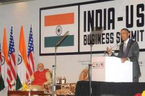 The US President, Barack Obama addressing at the India-US Business Summit in the presence of the Prime Minister, Narendra Modi