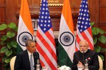 "The Prime Minister, Narendra Modi and the US President, Barack Obama recording the special episode of ""Mann ki Baat"""