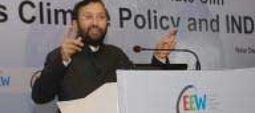 India a leader in climate change efforts: Javadekar