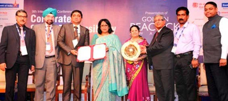 ONGC receives Golden Peacock Award for CSR excellence