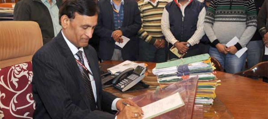 L.C. Goyal takes charge as the Home Secretary