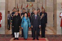 The President, Pranab Mukherjee hosts banquet in the honour of the President of the Republic of Singapore, Dr. Tony Tan Keng Yam