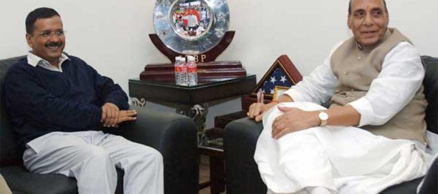 Kejriwal discusses Delhi's statehood with Rajnath Singh