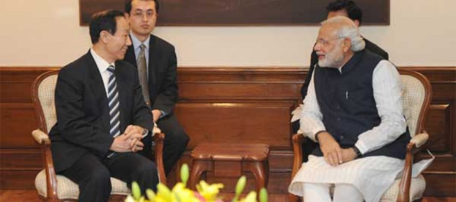 The Director of the International Department of the Central Committee of the Communist Party of China, Wang Jiarui calls on the Prime Minister, Narendra Modi