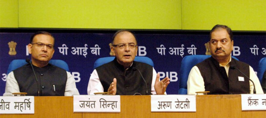Jaitley says budget seeks to put more money in the hands of the middle class through tax breaks
