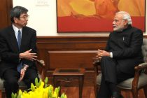 PM Modi urges ADB chief to take up railways sector in India