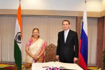Sergey Naryshkin, Speaker of the Russian parliament with Lok Sabha Speaker Sumitra Mahajan