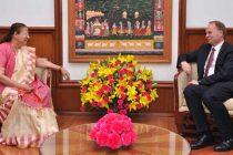The Ambassador of Poland to India, Tomasz Lukaszuk calls on the Speaker, Lok Sabha, Sumitra Mahajan, in New Delhi.