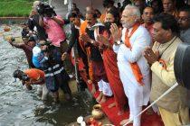The Prime Minister, Narendra Modi at Ganga Talao, in Mauritius on March 12, 2015.