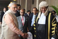The Prime Minister, Narendra Modi at the Parliament of Sri Lanka, in Colombo, Sri Lanka on March 13, 2015.