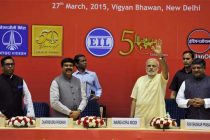 The Prime Minister, Narendra Modi at the 'Urja Sangam', a summit dedicated to energy, in New Delhi on March 27, 2015