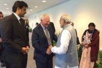 The Prime Minister, Narendra Modi meets the Governor General of Canada, His Excellency the Right Honorable David Johnston