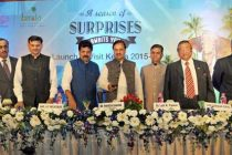 The MoS for Culture (IC), Tourism (IC) and Civil Aviation, Dr. Mahesh Sharma launching 'The Visit Kerala Initiative' of Kerala Tourism