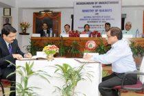 The Minister for Railways, Suresh Prabhakar Prabhu, the MoS for Commerce & Industry (IC), Nirmala Sitharaman