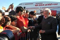 The Prime Minister, Narendra Modi being warmly welcomed by the people of Indian Community, in Ottawa, Canada on April 14, 2015.