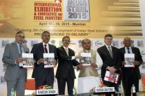 The Minister for Mines and Steel, Narendra Singh Tomar releasing the knowledge report book, at the inauguration